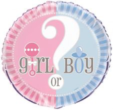 18 Inches Gender Reveal Foil Balloons