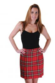 18 Inches Red Wrap Over Tartan Skirt