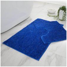 2 PC BATH SET SHINY ROYAL BLUE