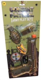 20 Cm Pistol with 3 Pcs Army Play Set