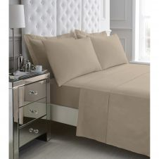 200 TC EGYPTIAN COTTON FITTED SHEET MOCHA