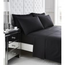 200 TC EGYPTIAN COTTON FLAT SHEET BLACK