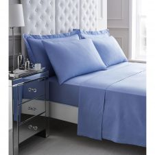 200 TC EGYPTIAN COTTON FLAT SHEET BLUE