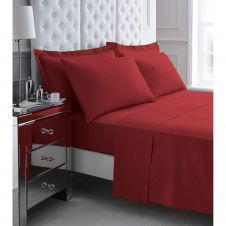200 TC EGYPTIAN COTTON FLAT SHEET RED