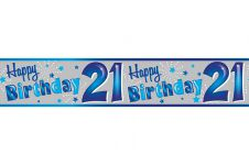 21st Birthday Banner (Extra/Wide) Male