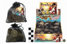 Pirate Coins in net Drawstring Pouch