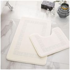 2PC DIAMOND MEMORY BATH MAT CREAM - 41167044
