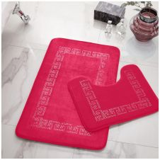 2PC DIAMOND MEMORY BATH MAT PINK - 41167020