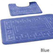 2PC HANGER PACK GREEK BATH MAT BLUE (15 PCS)