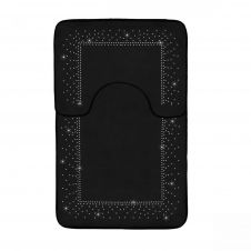 2PC SPARKLE MEMORY BATH MAT BLACK - 41167174