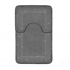 2PC SPARKLE MEMORY BATH MAT GREY - 41167167