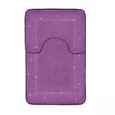 2PC SPARKLE MEMORY BATH MAT PURPLE - 41167198