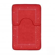 2PC SPARKLE MEMORY BATH MAT RED - 41167136