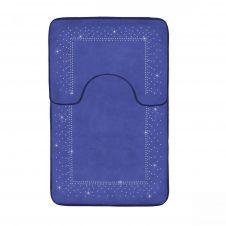 2PC SPARKLE MEMORY BATH MAT ROYAL BLUE - 41167105