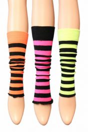 3 Assorted  Kids Stripe Leg Warmer (12 Pairs)