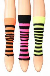3 Assorted  Kids Stripe Leg Warmer (12 Pairs)