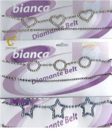 3 Assorted Diamante Belly Belt