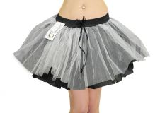 3 Layer Black and White / Grey Zombie TuTu Skirt