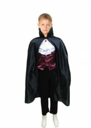 Black Halloween Children Carded Cape Costume (34 Inches)