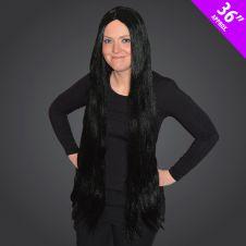 36Inch Long Black Wig