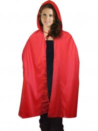 38 Inches Adult Red Hooded Cape