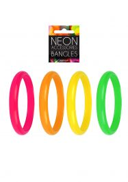 4 Assorted Colour Neon Bangles 15cm