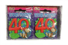 40 & Hanging in There PVC Badge/Fridge Magnet