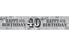 40th Happy Birthday Banner (Extra/Wide) Male