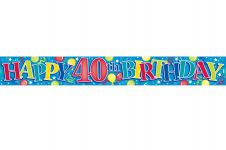 40th Happy Birthday Banner