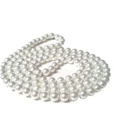 48 Inches Plastic Pearl Bead Necklace