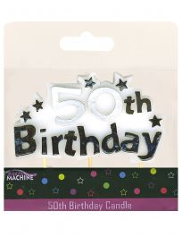 50th Birthday Banner Candle
