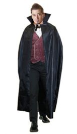 Black Halloween Carded Cape Costume (56 Inches)