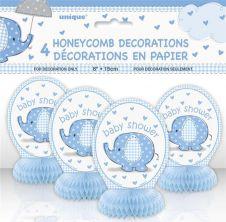 6 Inches UmbrellaPhants Blue Mini Honey Comb (Pack of 4)