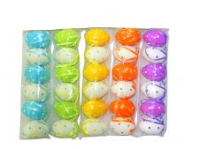 6 cm Assorted colours Plastic 6Pcs Eggs