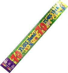 70 Years Young Happy Birthday Party Banner 2.6 m