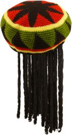 Adult Jamaican Hat With Hair