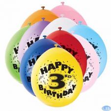 Age 3rd Printed Balloons (Pack of 20)