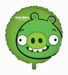 Angry Birds Green Pig Foil Balloon