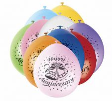 Anniversary Printed Balloons (Pack of 10)
