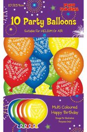 Assorted Birthday Party Balloons (Pack of 10)