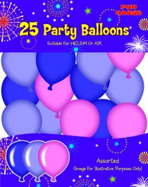 Assorted Party Pink Balloons (Pack of 25)