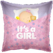 Baby Girl Sleeping Balloon (18 Inches)