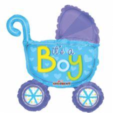 Baby Stroller Boy Mini Shape Air Filled (14inch)