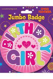 Birthday Girl Giant Badge
