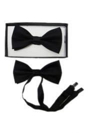Black Bow Tie with Gift Box