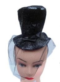 Black Fascinator Hat with Alice Band