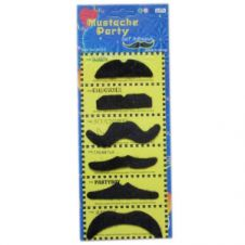 Black Mustache Party (6 Pcs)