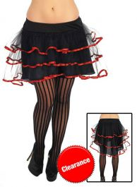 Black and Red Layered Tutu