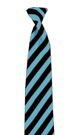 Black & Turquoise Striped Neck Tie