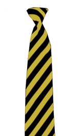Black & Yellow Striped Neck Tie
